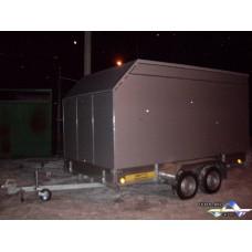 Модульный алюминиевый фургон «Искристое серебро»