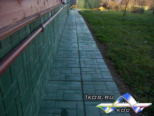 Пескополимерная тротуарная плитка 176