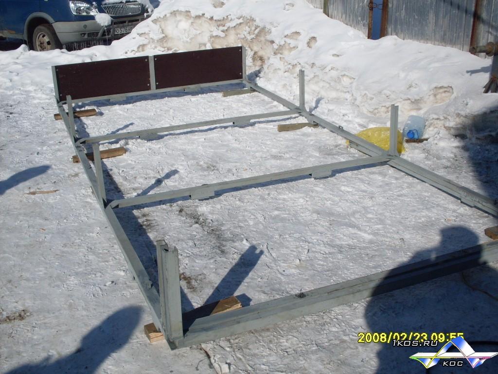 Раздвижная платформа перед установкой.