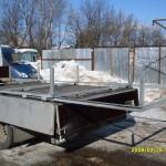 Платформа - трансформер во время установки.