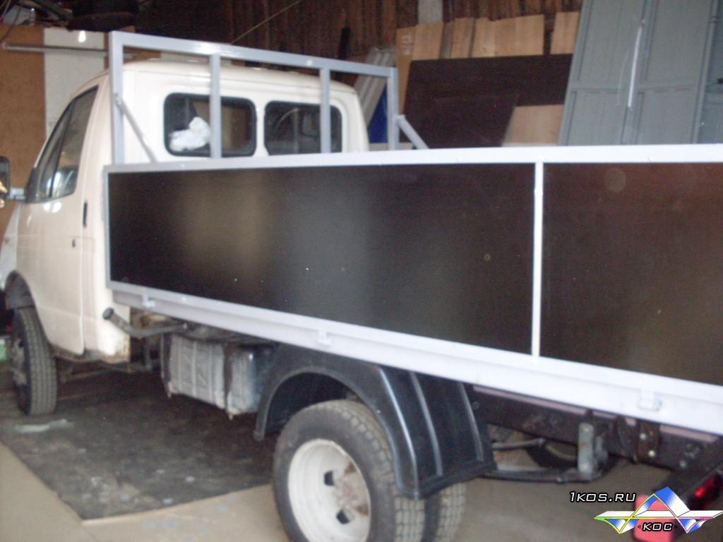 """""""Катюша"""" для длинных грузов встроена в борт."""