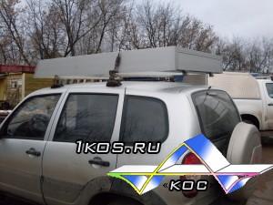 Алюминиевый открытый экспедиционный багажник.