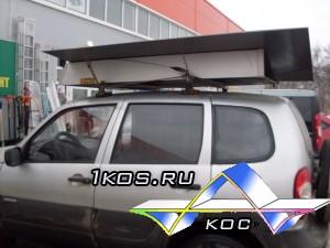 Перевозка листов 1,5 м * 2,5 на багажнике.