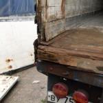 Демонтаж коробки ворот.