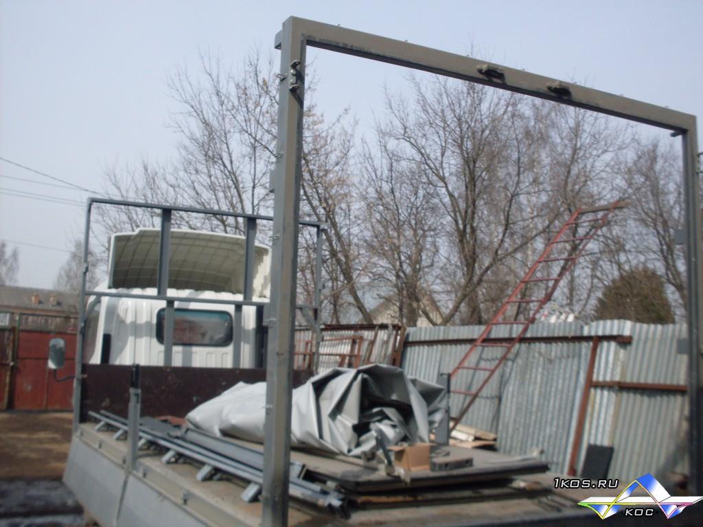 Тентованный фургон с воротами, разборка.