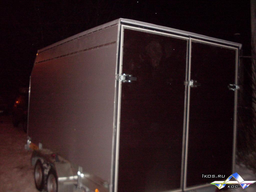 Алюминиевый модульный фургон для прицепа с 2 трапами.