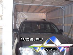 Тент превращается в тент-укрытие для авто