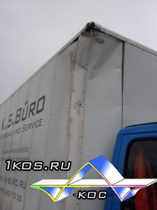 Повреждение фургона.
